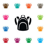 Isolated Packsack Icon. Haversack Vector Element Can Be Used For Haversack, Backpack, Bag Design Concept. Stock Photo