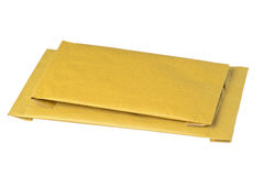 Isolated padded envelopes Stock Image