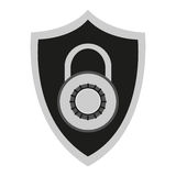 Isolated padlock inside shield design Royalty Free Stock Image