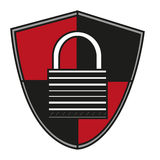 Isolated padlock inside shield design Royalty Free Stock Photography