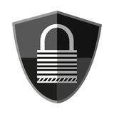 Isolated padlock inside shield design Royalty Free Stock Images