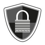 Isolated padlock and shield design Royalty Free Stock Image