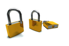 Isolated padlocks Royalty Free Stock Photos