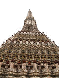 Isolated of Pagoda in the Wat Arun in Bangkok Royalty Free Stock Photos