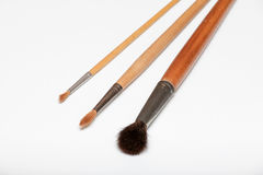 Paint brushes on white background Royalty Free Stock Image