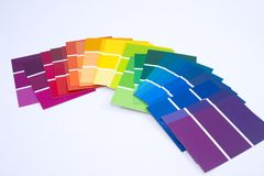 Isolated Paint Samples Stock Image