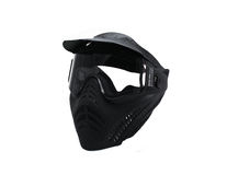 Isolated Paintball Mask. Black paintball mask on white background Stock Images