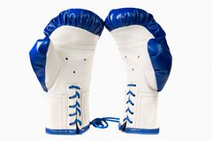 Isolated pair of boxing gloves Royalty Free Stock Images