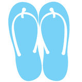Isolated pair of sandals Stock Image