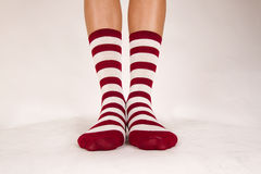 Isolated pair of socks Stock Photography