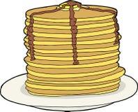 Isolated Pancakes Royalty Free Stock Photo