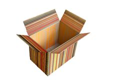 Isolated Paper box Royalty Free Stock Photo