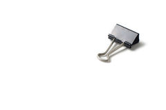 Isolated paper clip Royalty Free Stock Photography