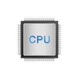 Isolated paper cut of cpu chip is central processor technology i Stock Photos
