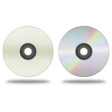 Isolated paper cut of disc cd, dvd, blue-ray disk is record data Stock Photography
