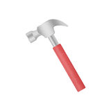 Isolated paper cut of red metal hammer tool is equipment icon fo Royalty Free Stock Photography