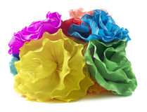 Isolated paper flowers Royalty Free Stock Images