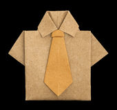 Isolated paper made brown shirt. Royalty Free Stock Image