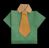 Isolated paper made green shirt. Royalty Free Stock Photo