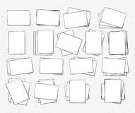 Isolated paper sheet handmade. Page in sketch style. Stock Image