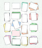 Isolated paper sheet handmade. Page in sketch style. Stock Photos