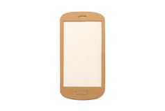 Isolated paper smart phone Stock Photo