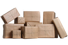 Isolated parcels Stock Photography