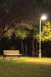 Isolated park at night Royalty Free Stock Image