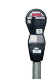 Isolated parking meter.  Stock Photo