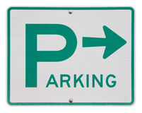 Isolated parking sign. Parking sign isolated on white Royalty Free Stock Photos