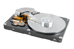 Isolated parsed hard disk drive Royalty Free Stock Photo