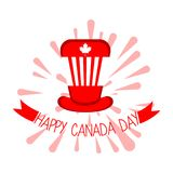 Isolated party hat. Canada day. Vector illustration design Stock Photography