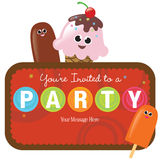 Isolated Party Invitation Stock Photo
