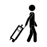 Isolated passanger and baggage design Stock Photo