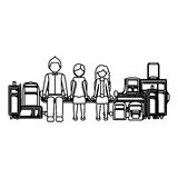 Isolated passanger and baggage design Stock Image