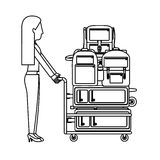 Isolated passanger and baggage design Royalty Free Stock Image