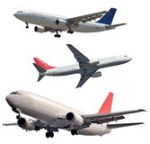 Isolated Passenger Aircrafts Royalty Free Stock Image