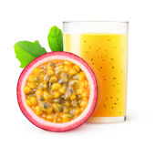 Isolated passion fruit smoothie Stock Image