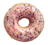 Isolated Pastel Pink Donut Royalty Free Stock Images