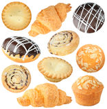 Isolated pastry collection Royalty Free Stock Photography