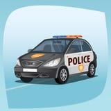 Isolated patrol car Stock Photos