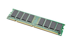 Isolated PC memory, RAM Royalty Free Stock Photography