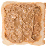 Isolated Peanut Butter Sandwich Stock Photo
