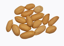 Isolated Peanut Shells Royalty Free Stock Photography