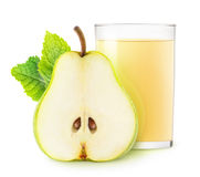 Isolated pear juice Royalty Free Stock Photo