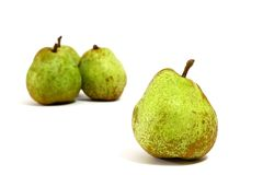 Isolated Pears on white Royalty Free Stock Image