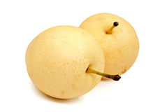 Isolated pears. Isolated pears on white background Royalty Free Stock Photo