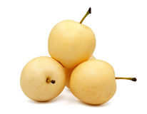 Isolated pears. Isolated pears on white background Stock Images