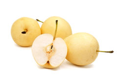 Isolated pears. Isolated pears on white background Royalty Free Stock Photography