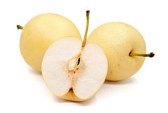 Isolated pears. Isolated pears on white background Stock Photography